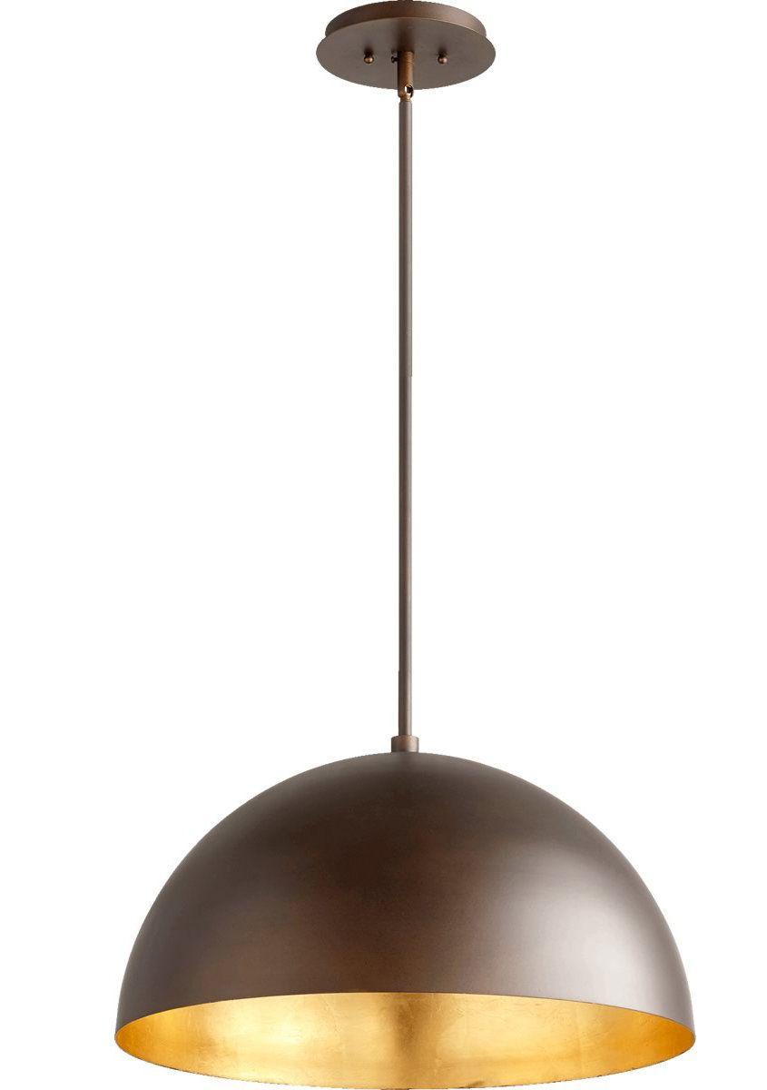 1 light inverted pendant