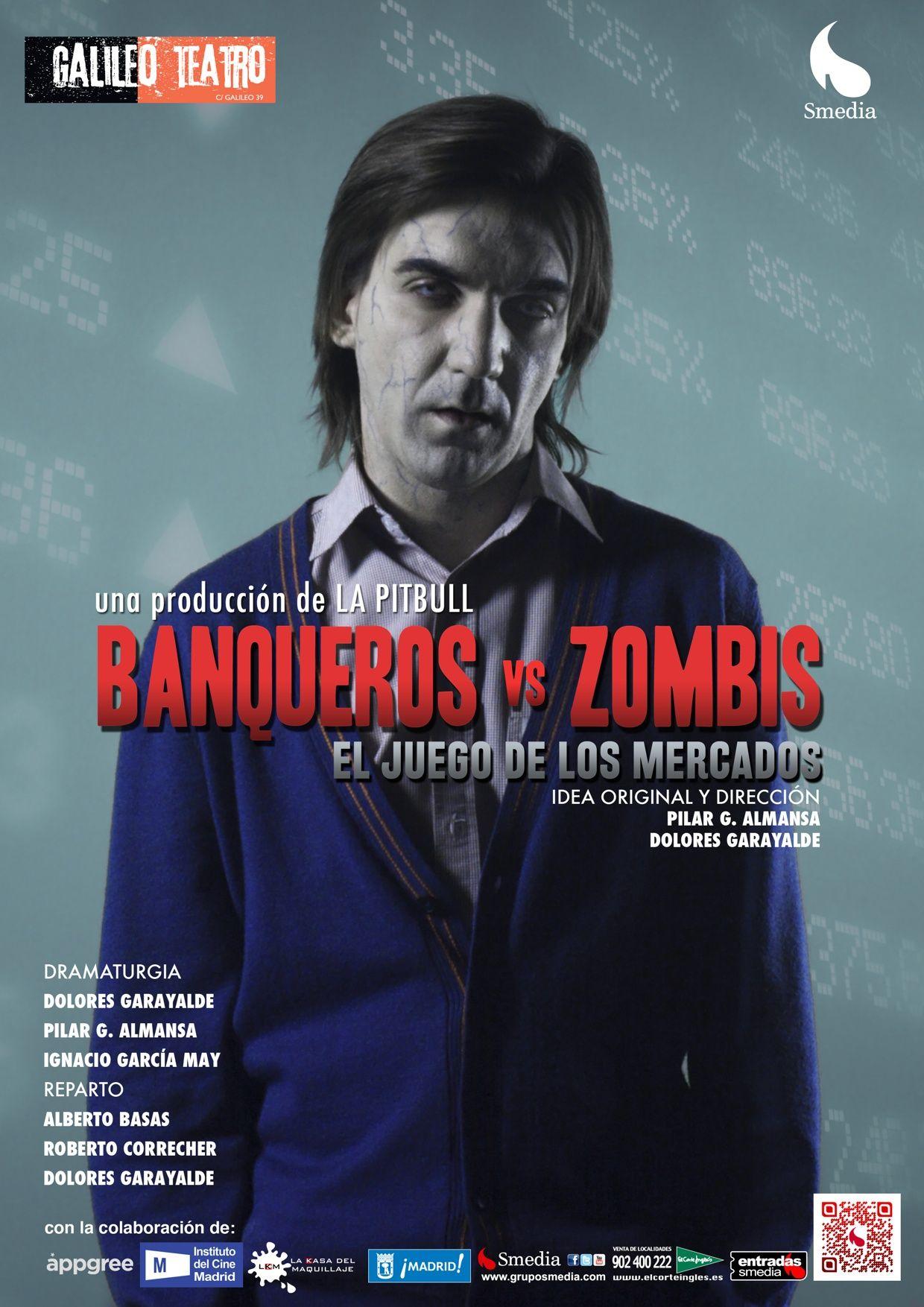 """¡Tenemos una gran noticia! Ya están disponibles las entradas para """"Banqueros vs zombis"""", la obra de teatro en la que hemos colaborado. Nosotros ya tenemos nuestra entrada. ¡Consigue la tuya en Atrápalo.com con descuentos de hasta el 45%!"""