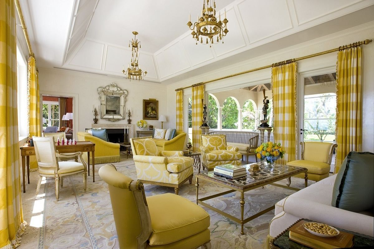 The Gray Yellow Living Room Decoration Ideas