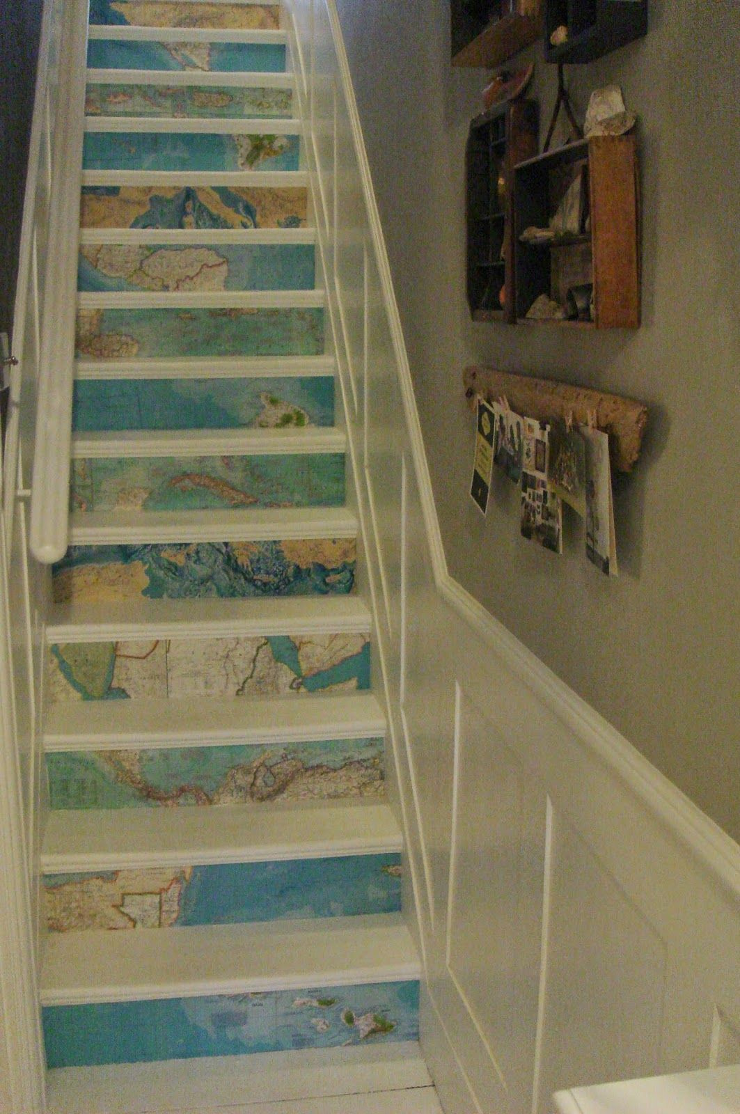 Painted Stairs Just Paint It White Map It Pinterest Paint Stairs Stairways