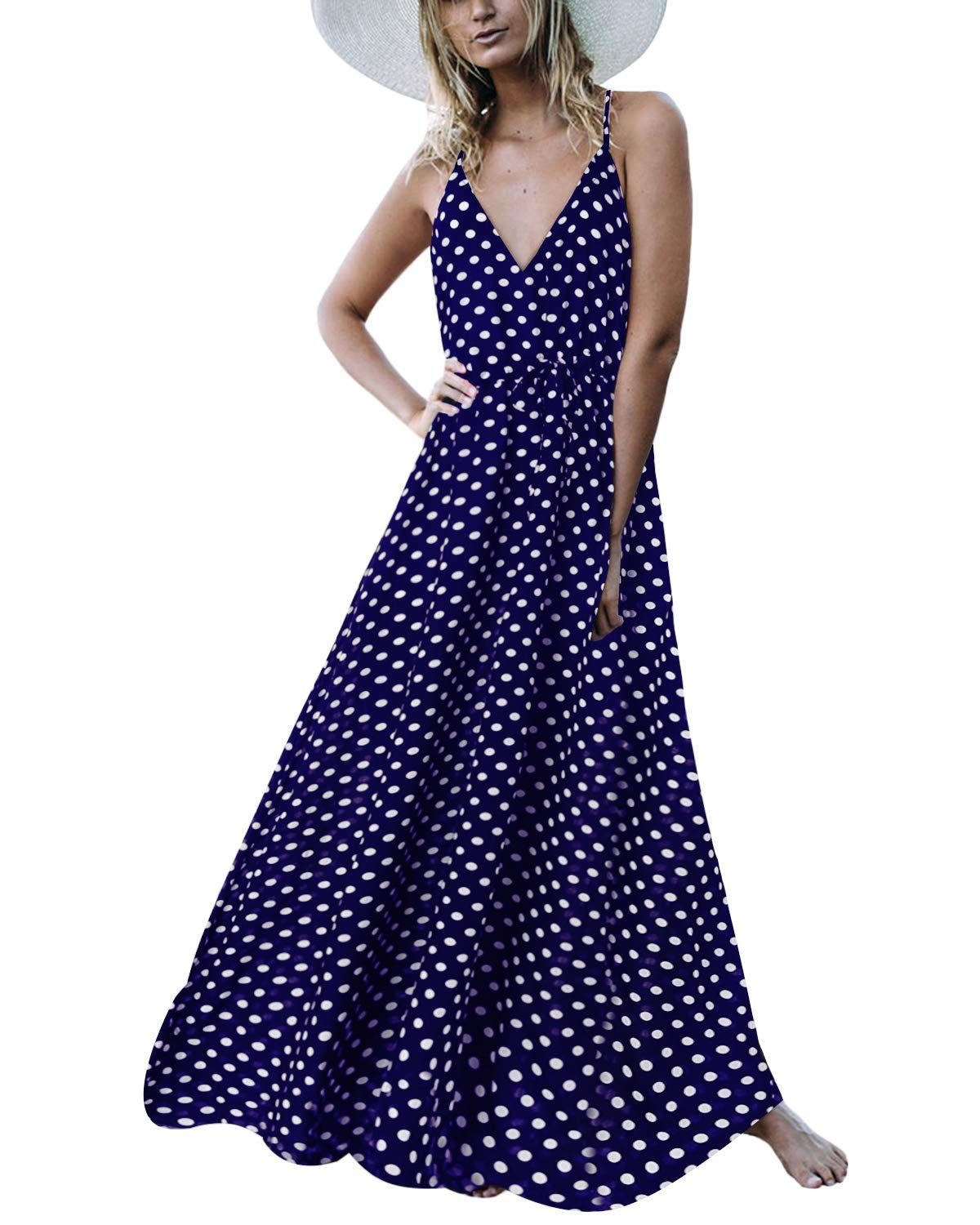 Auxo Sleeveless Sundress Printed Strappy Womens Maxi Dresses Formal Dresses For Women Womens Floral Dress [ 1500 x 1200 Pixel ]