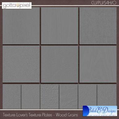 Texture Lover's Texture Plates Wood Grains digital scrapbook textures. $4.36 at Gotta Pixel. www.gottapixel.net