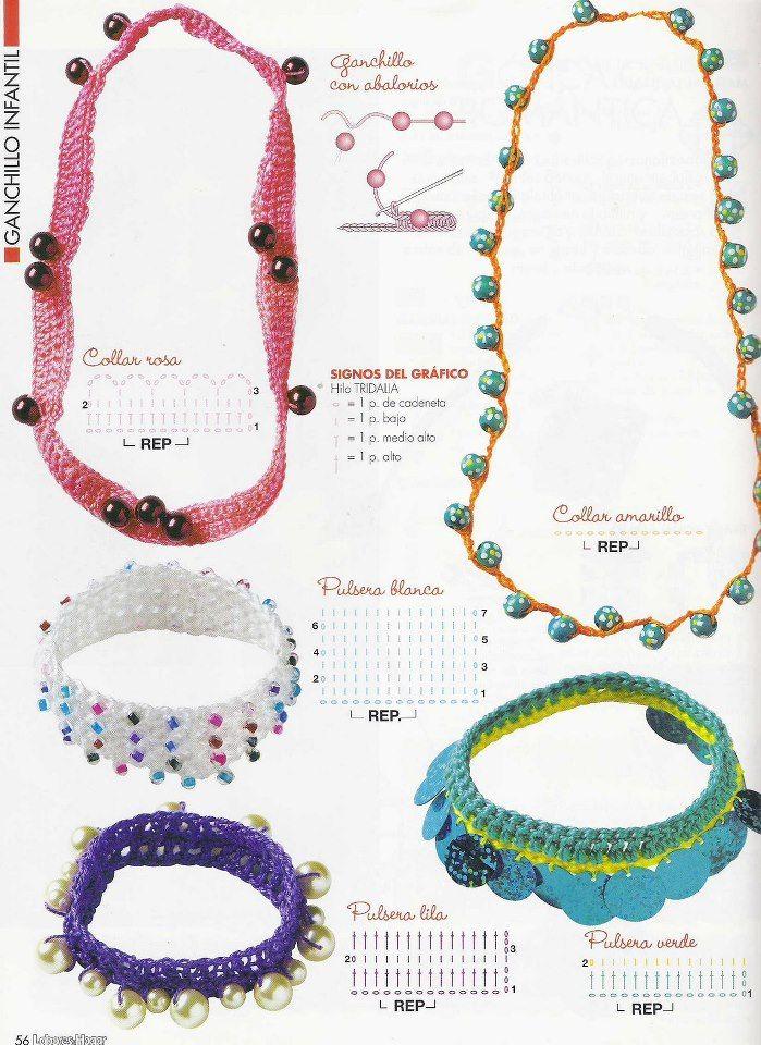Patrones de Crochet | Bisuteria | Pinterest | Crochet, Crochet ...
