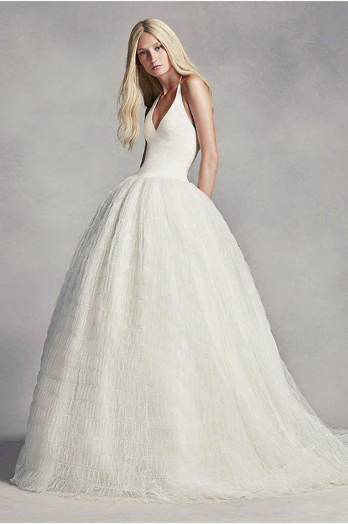 White by Vera Wang Organza Mermaid Wedding Dress Style VW351311 ...