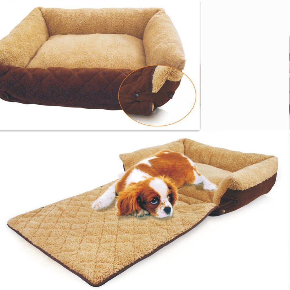 Small Medium Big Dog Sofa Bed House Kennel Washable Winter Warm