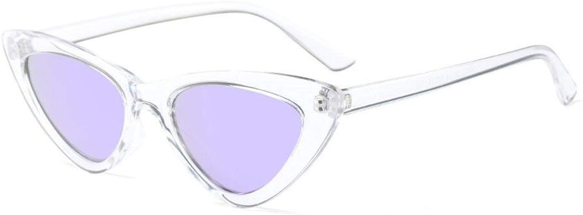 Hzjundasi Fashion Mod Chic Super Cat Eye Triangle Occhiali da sole Donna Vintage Retro Eyewear