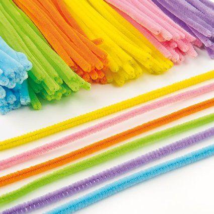 Großpackung Pfeifenreiniger - bunt - Osterfarben - für Kinder zum Basteln und Dekorieren - 120 Stück