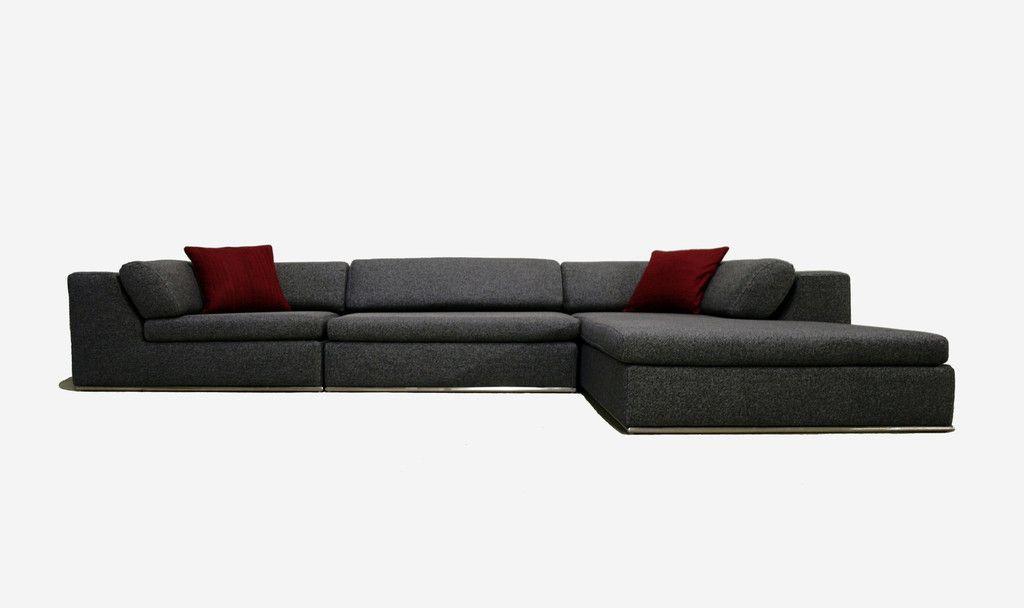 Karl Sectional Sofa Gray Grey Sectional Sofa Modern Sofa Sectional Sectional Sofa