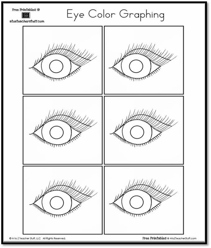 Eye Color Graphing | A to Z Teacher Stuff Printable Pages and ...