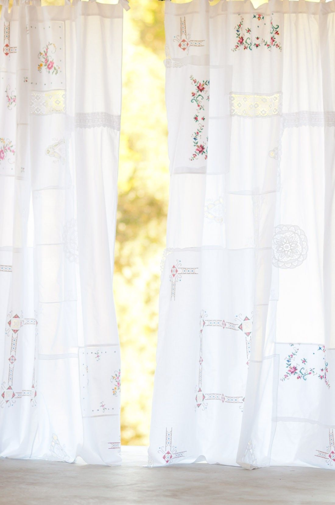 Vintage curtains my shabby chic home makeover pinterest