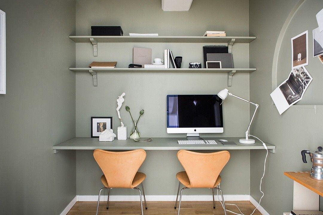 Découvrir lendroit du décor : un bureau pour deux home office