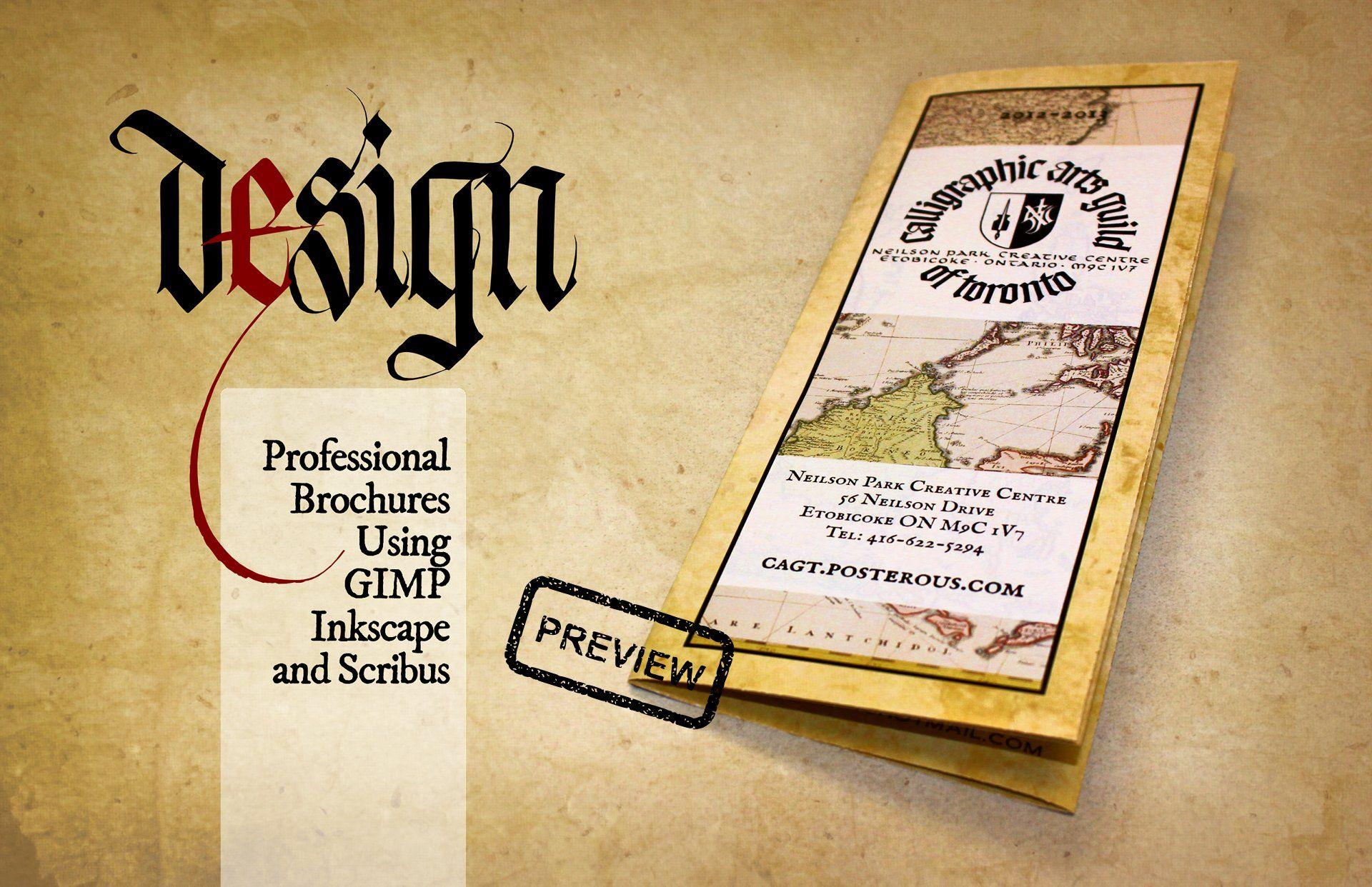 Poster design using gimp - Design Professional Brochures Using Gimp Inkscape And Scribus Written By Steve Czajka Edited