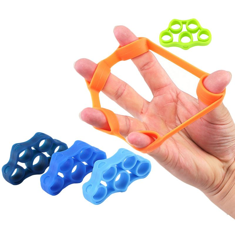 6pcs Hand Gripper Forearm Wrist Training Finger Stretcher Resistance Band Exercise Pull Ring Grips Expander Fitness Equipment Affil フィットネスグッズ チューブトレーニング ゴムバンド