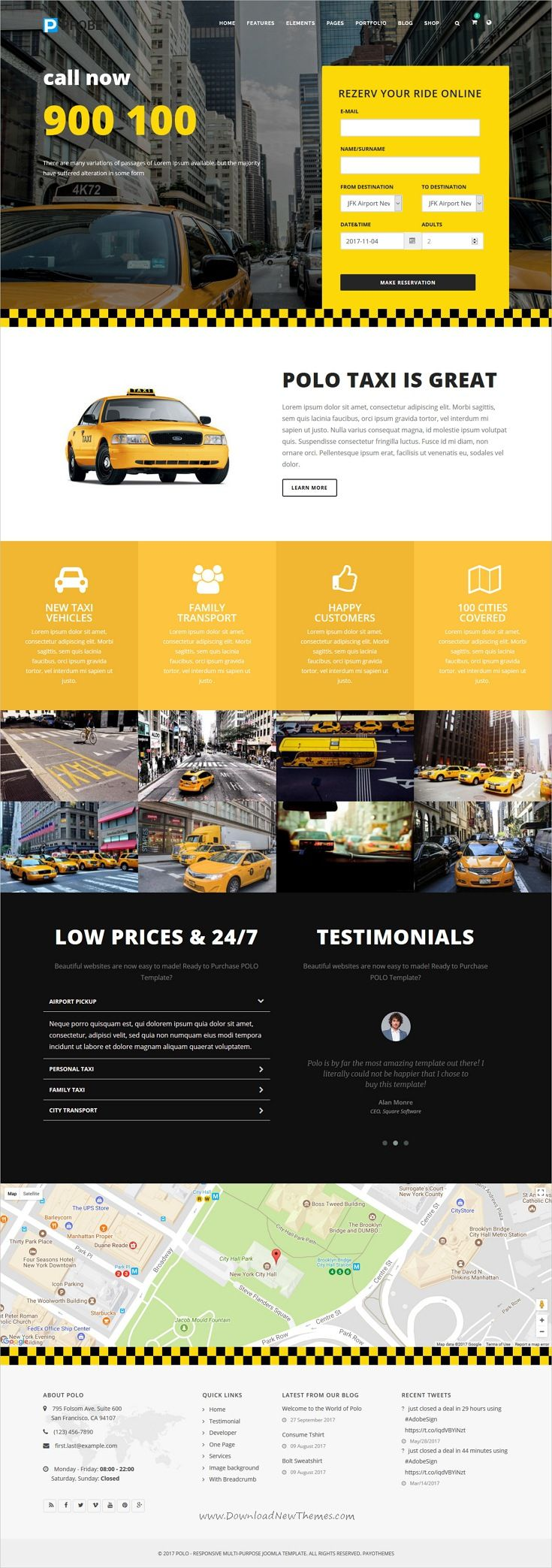 Polo Is Clean And Modern Design Multipurpose Responsive Joomla Template For Cab Taxi Services Company Website W Joomla Themes Joomla Wordpress Website Design