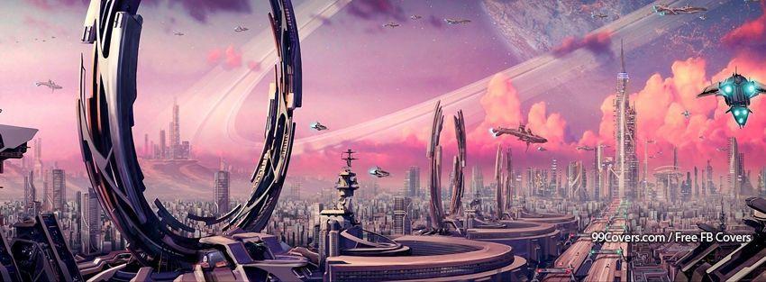 Futuristic fantasy art facebook covers futurismo