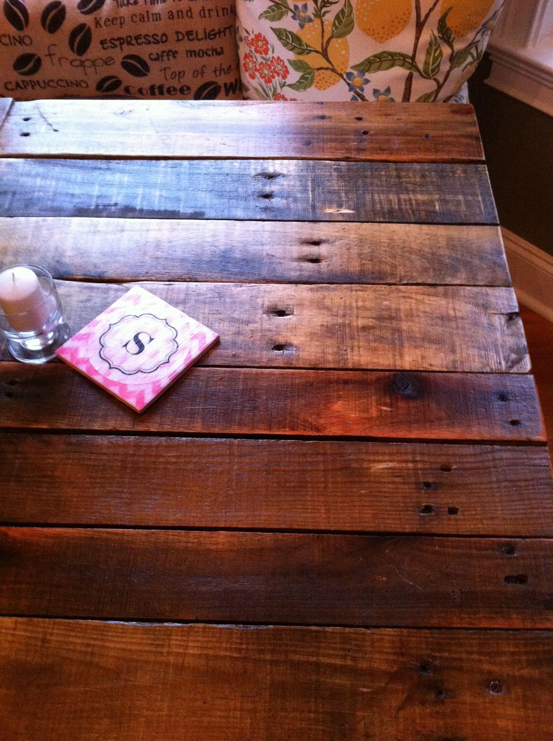 Breakfast Table Pallet Wood. Simplylife-jenn