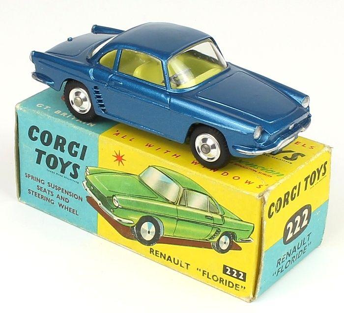 Corgi Toys Renault Floride scarce in mid metallic blue with