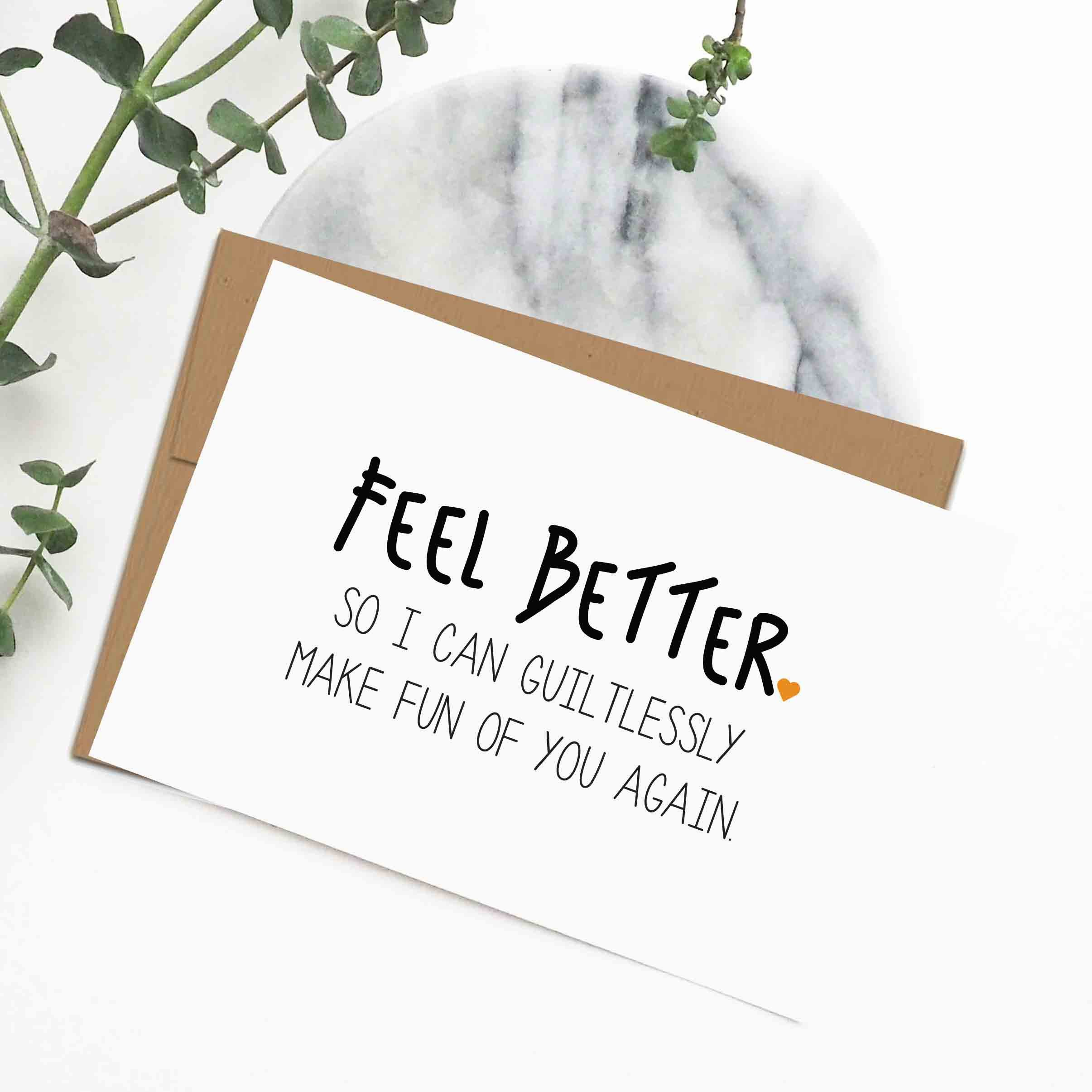 Funny Get Well Soon Cards Feel Better Cards Illness Sympathy Card Funny Handmade Get Well Soon Cards Funny Get Well Cards Funny Love Cards Feel Better Cards