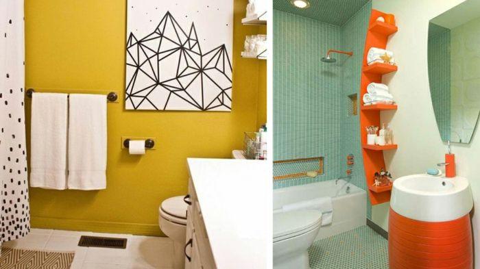 1001 ideas sobre ba os peque os dise os y decoraci n for Banos modernos naranjas