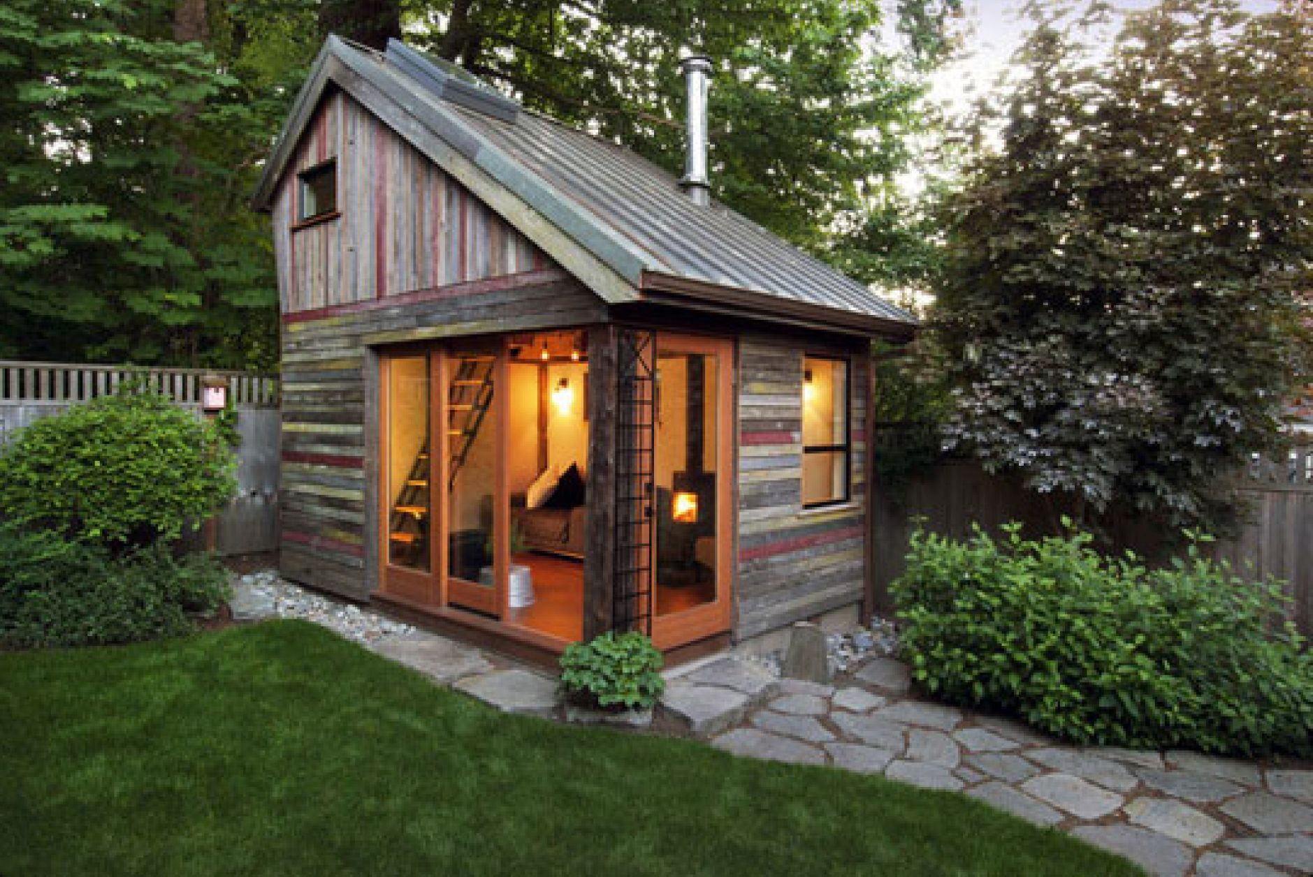 ^ outstanding rustic wooden shed ideas with sliding glass main door ...