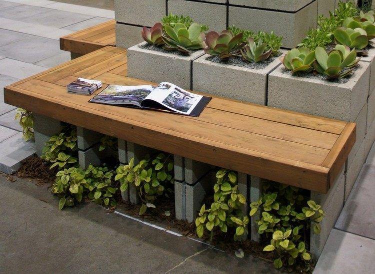 Gartenbank selber bauen stein  Gartenbank und Hochbeet für Pflanzen in einem | Garten + Terrasse ...