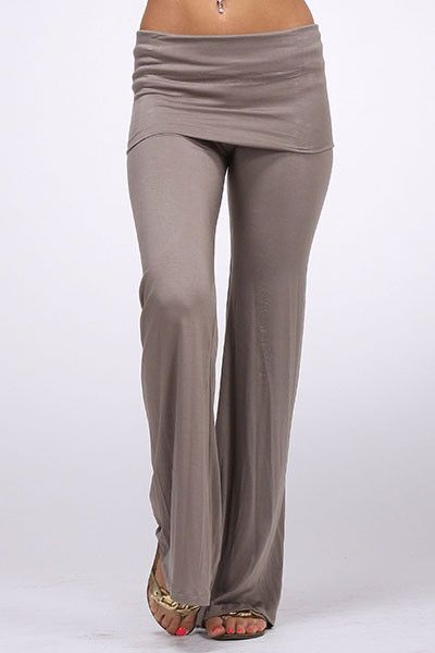 Wide Leg Fold Over Waist Yoga Pants- I kinda love these | My Style ...