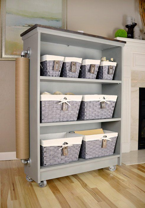 from ikea billy bookcase to craft cart ikea billy. Black Bedroom Furniture Sets. Home Design Ideas