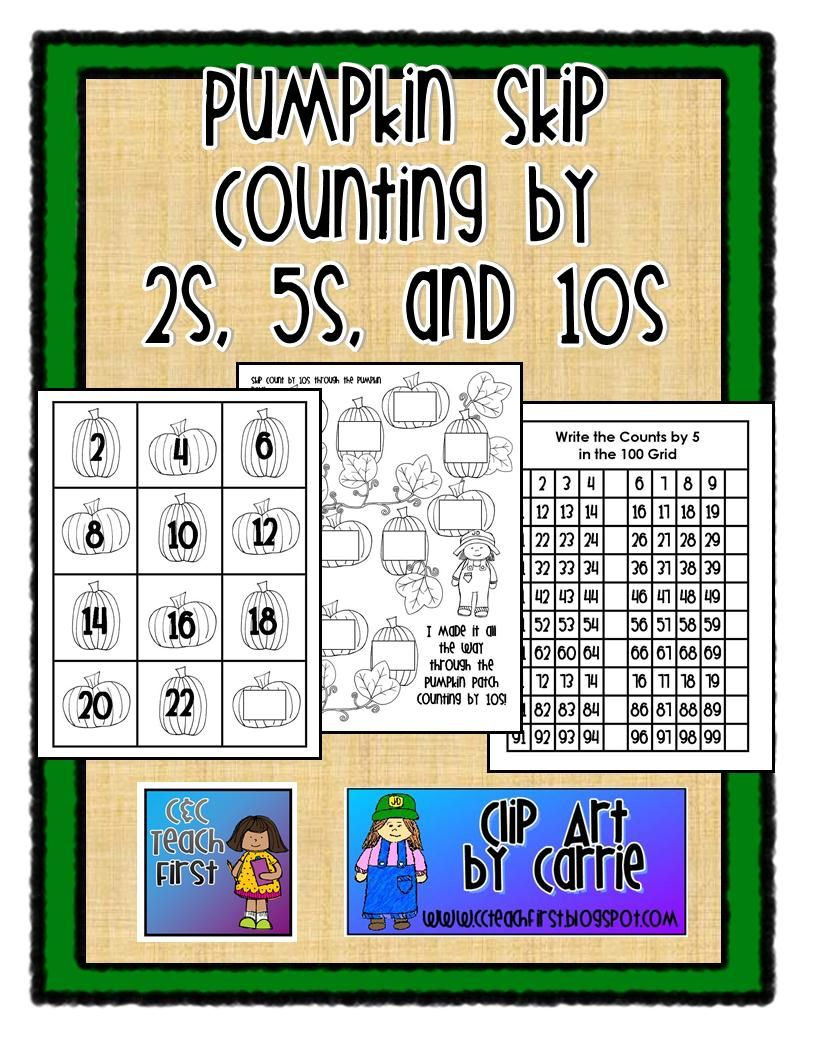 c c teach first pumpkin skip counting by 2s 5s 10s october counting in 2s skip. Black Bedroom Furniture Sets. Home Design Ideas