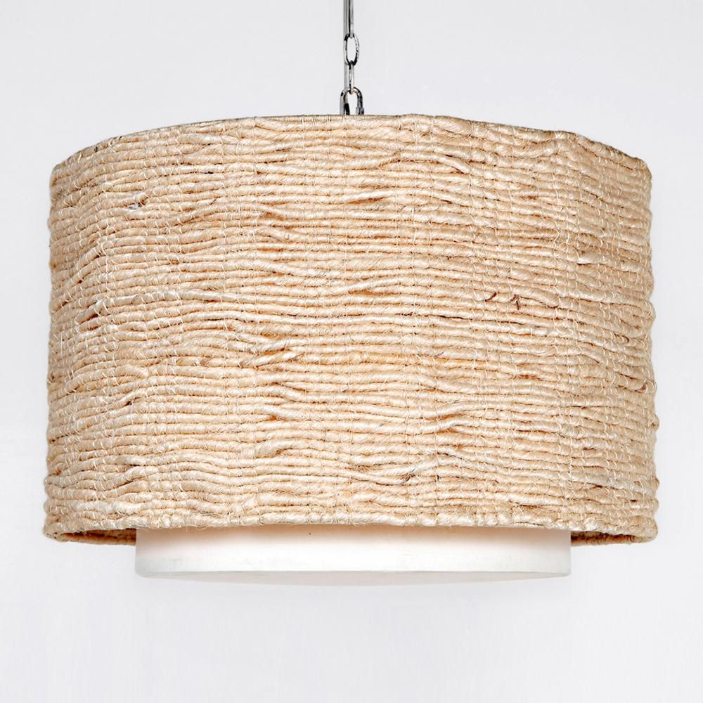 Made Goods Amani Drum Chandelier | Organic shapes, Natural linen ...