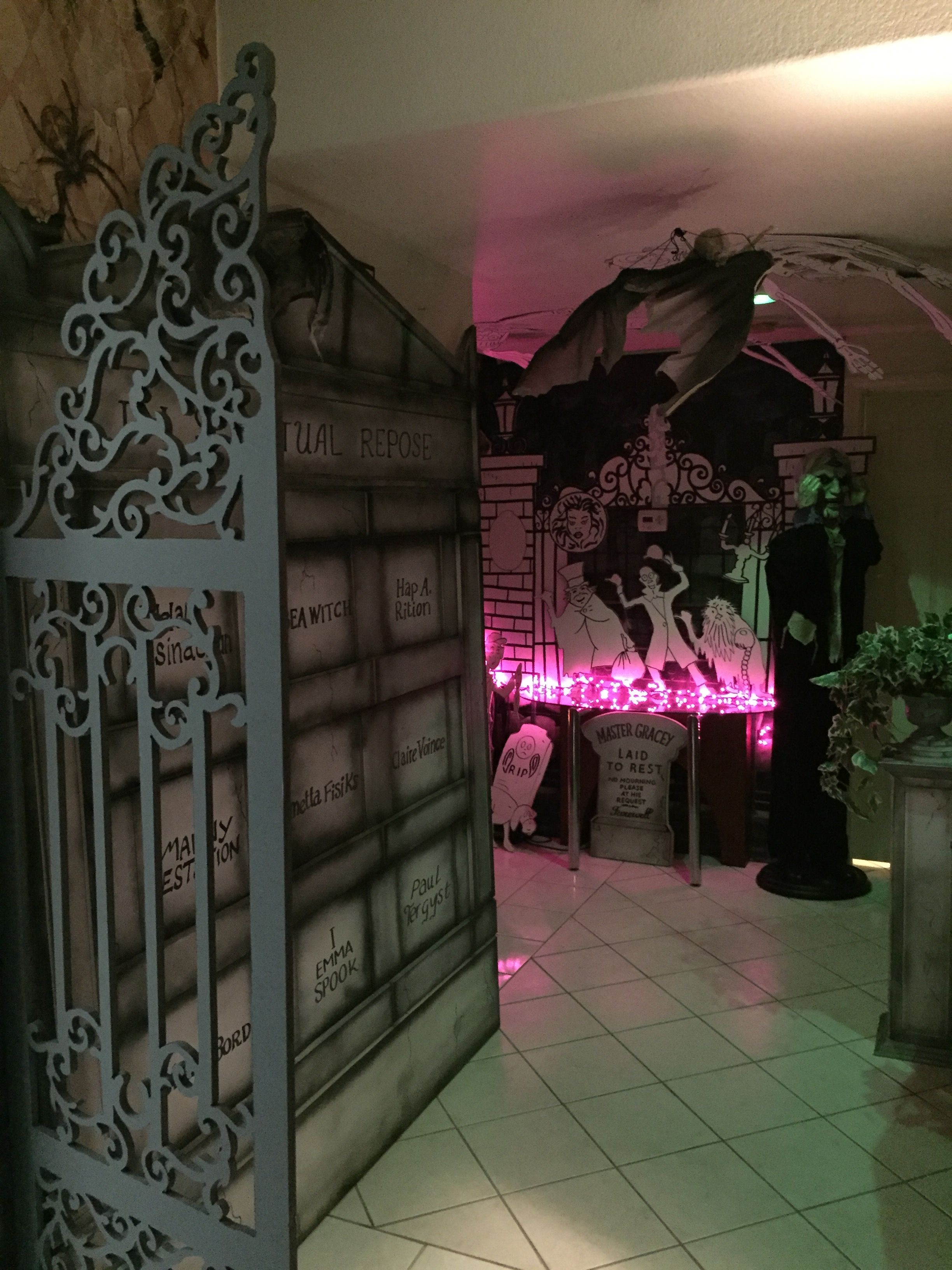 Magalie Sarnataro\u0027s props Haunted Mansion Cemetery decor Haunted - Office Halloween Decor
