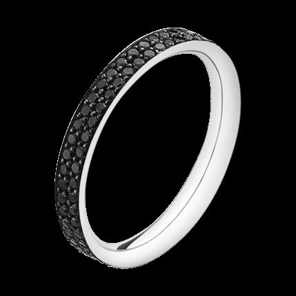 MAGIC ring - 18 karat hvidguld med sorte diamanter