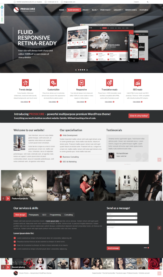 Impressive Collection Of Magazines Inspirational Wordpress Themes Wordpress Web Design Website Design Wordpress Web Design