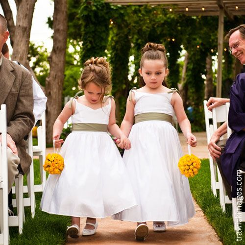 6 ideas for pomanders kissing balls mazelmoments kissing ball bouquets for the flower girls mightylinksfo Choice Image