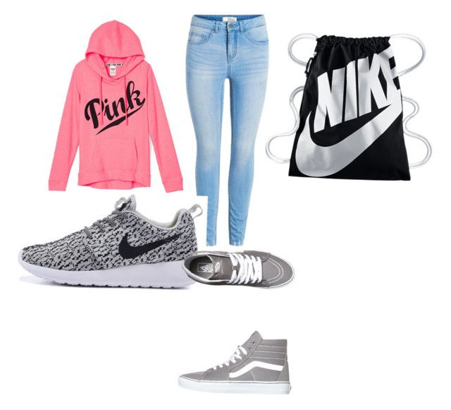 """Casual"" by hnbdancegir on Polyvore featuring Vans and NIKE"