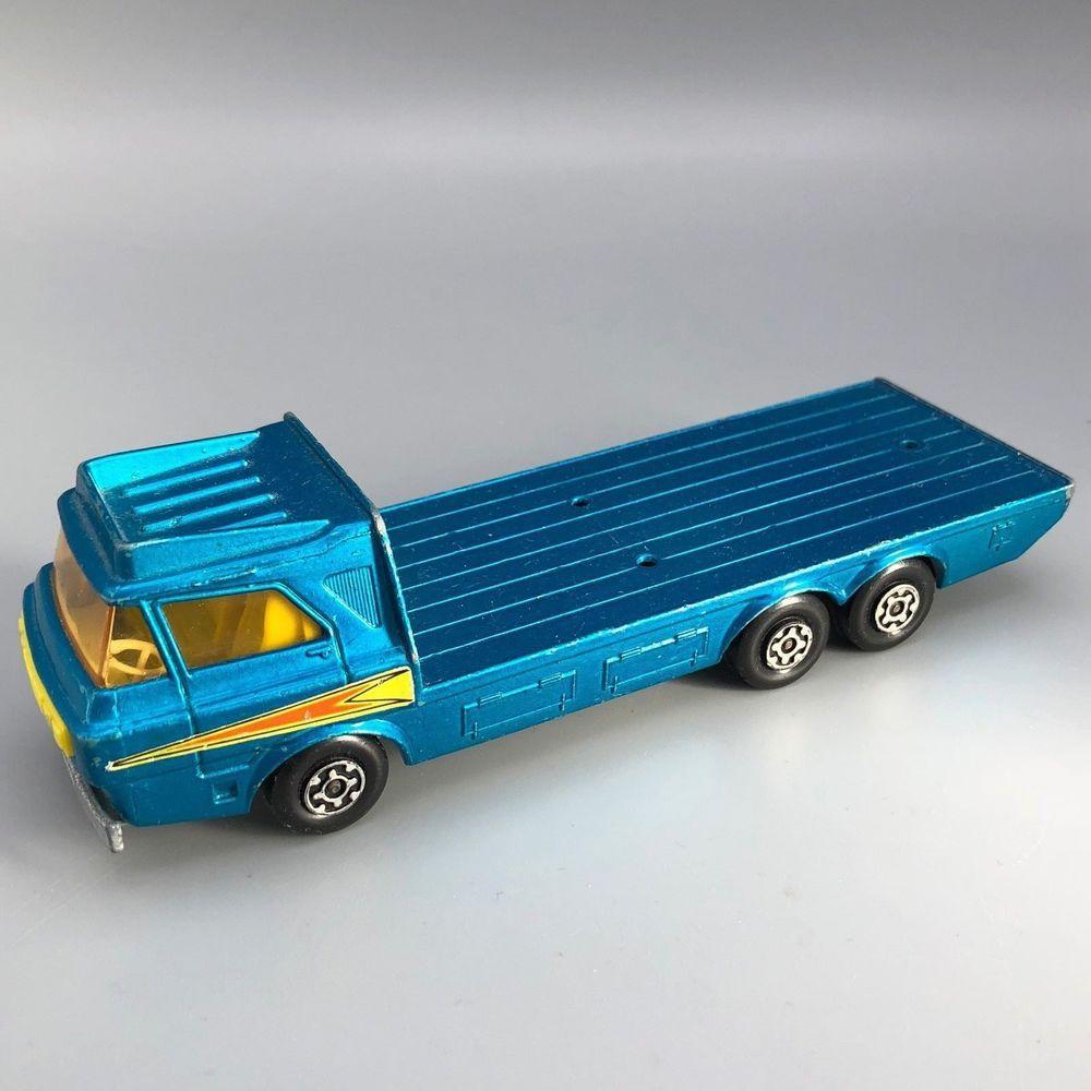 Vtg 1974 Matchbox Super Kings K21 Tractor Transporter Matchbox Toy Trucks Diecast Toy Toy Car