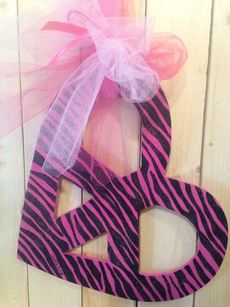Pink And Black Zebra Hearts