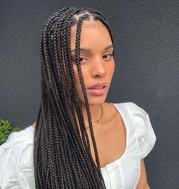 5 packs jumbo box braids hair   Hair styles, Box braids ...