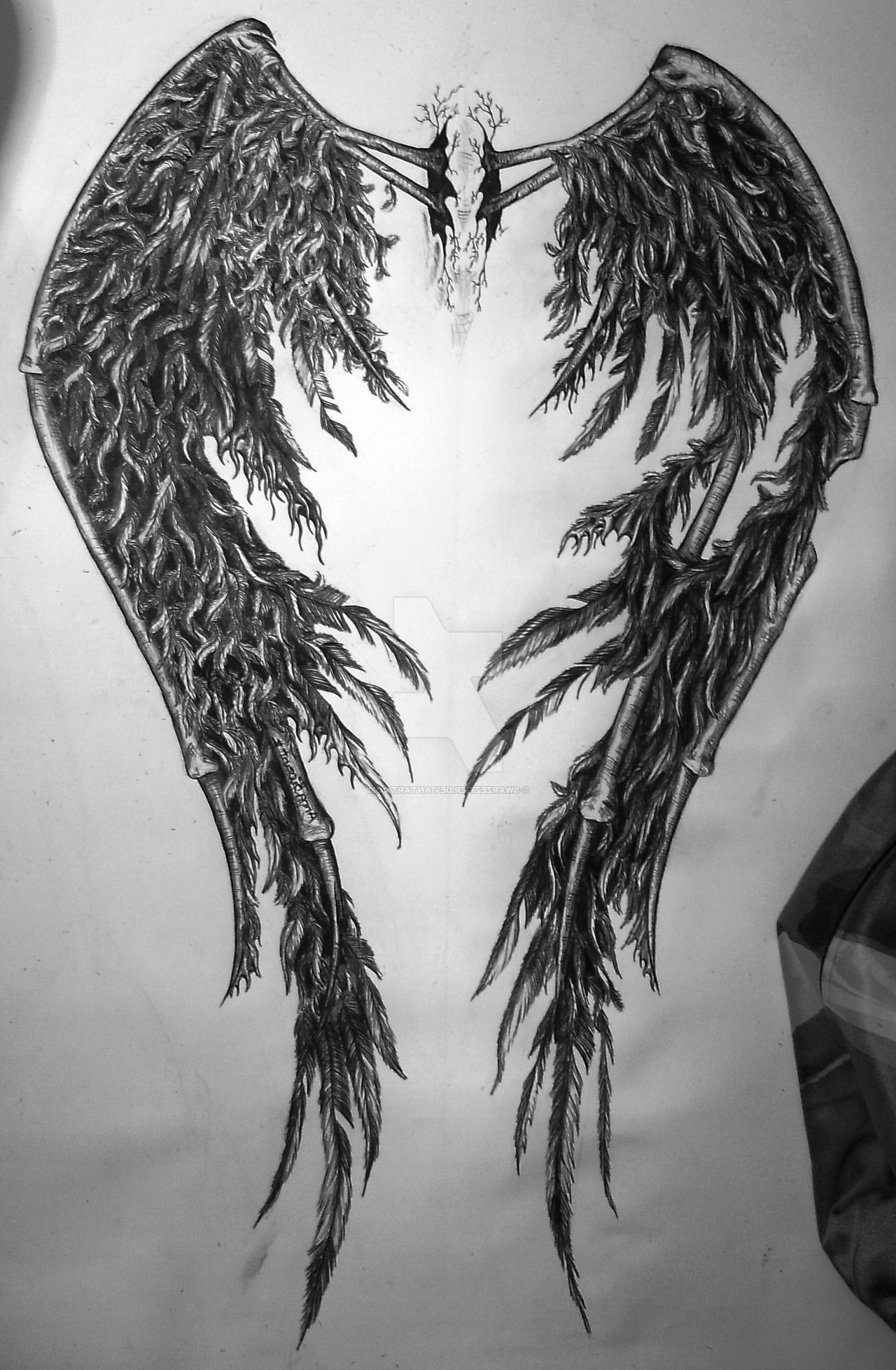 81ac0c08c The fallen angel wings for Custom Tattoo | Angel Wing Tattoos ...