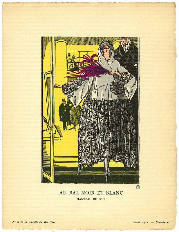 Au Bal Noir et Blanc - Manteau du soir [At the Black and White Ball - Evening Wrap]   Flickr - Photo Sharing!