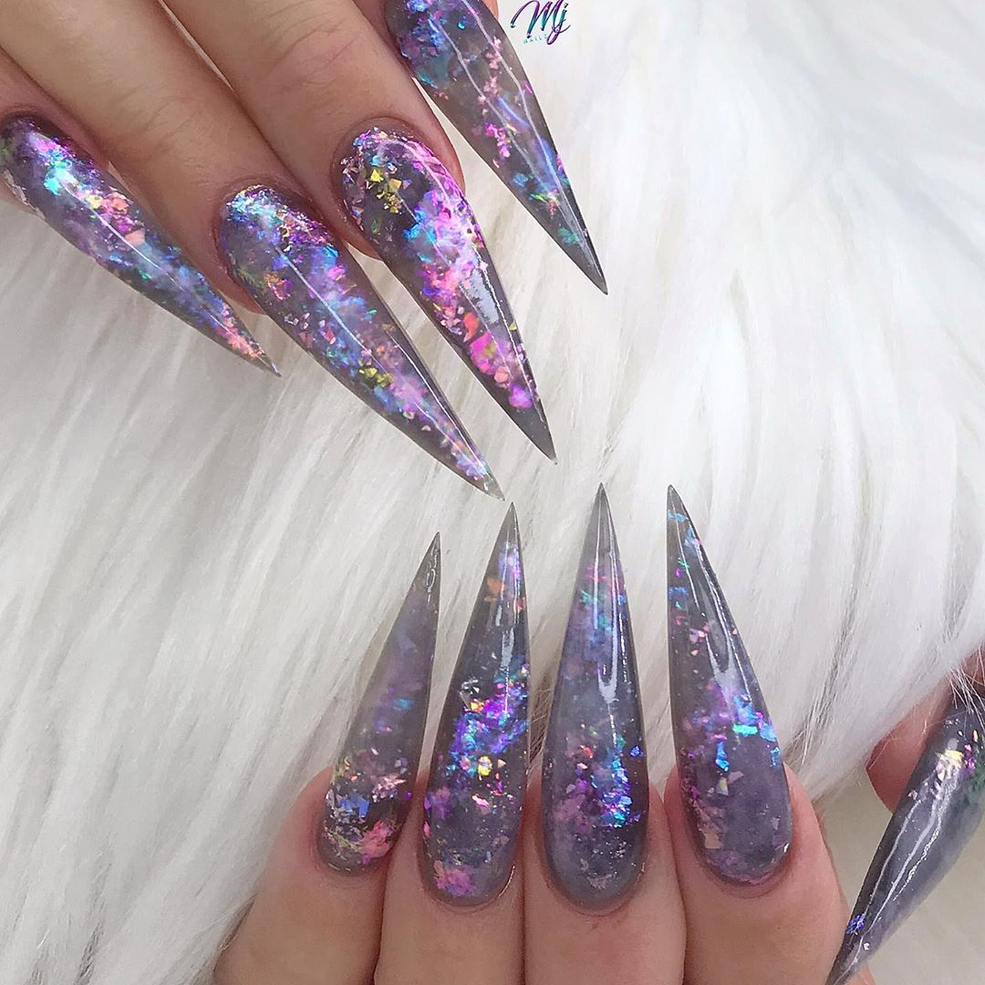 Miranda Richardson On Instagram The Darkest Nights Produce The Brightest Stars Youngn Acrylic Nails Stiletto Best Acrylic Nails Opal Nails