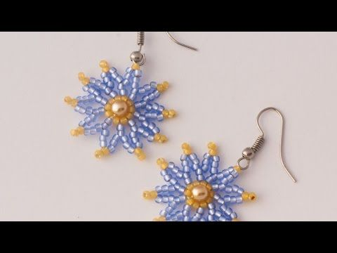 Resultado de imagen de beaded flower earrings