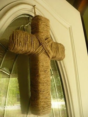 the homespun heart: Twine Cross | Easter | Pinterest | Twine, Easter ...