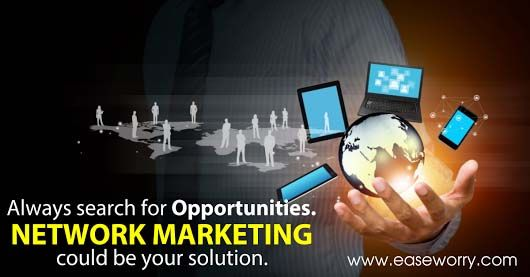 Always search for #opportunities. #Network #Marketing could be your solution. http://www.easeworry.com/