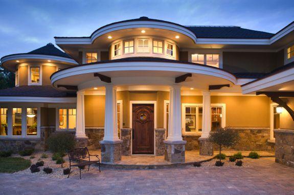Dise os de casas modernas de un piso fachadas de casas - Fachadas de casas modernas de un piso ...