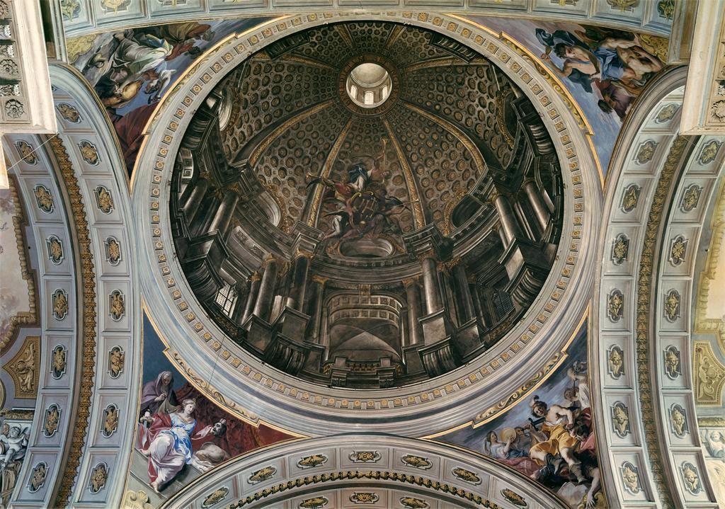 La volta dipinta da andrea pozzo nella chiesa di sant for Ca roma volta mantovana