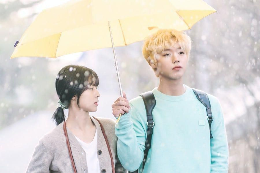 """Park Ji Hoon And Kang Min Ah Hint At Exciting Campus Romance In """"At A Distance Spring Is Green"""""""