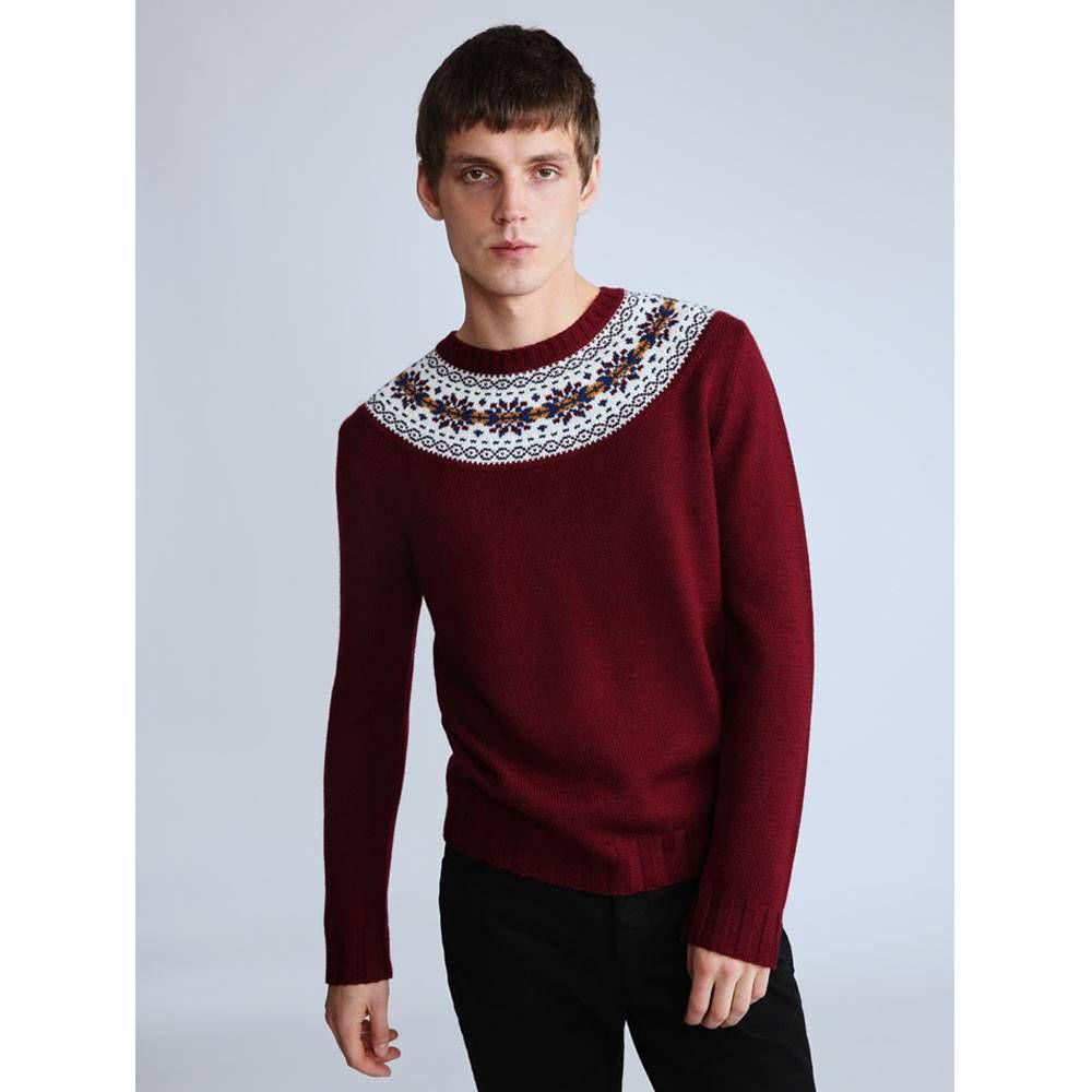 Pattern Crew Knitted Jumper | Pretty Green | Online Shop