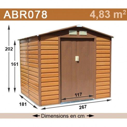 Abri Metal Aspect Bois Trigano 4 83 M2 Abri De Jardin Garage