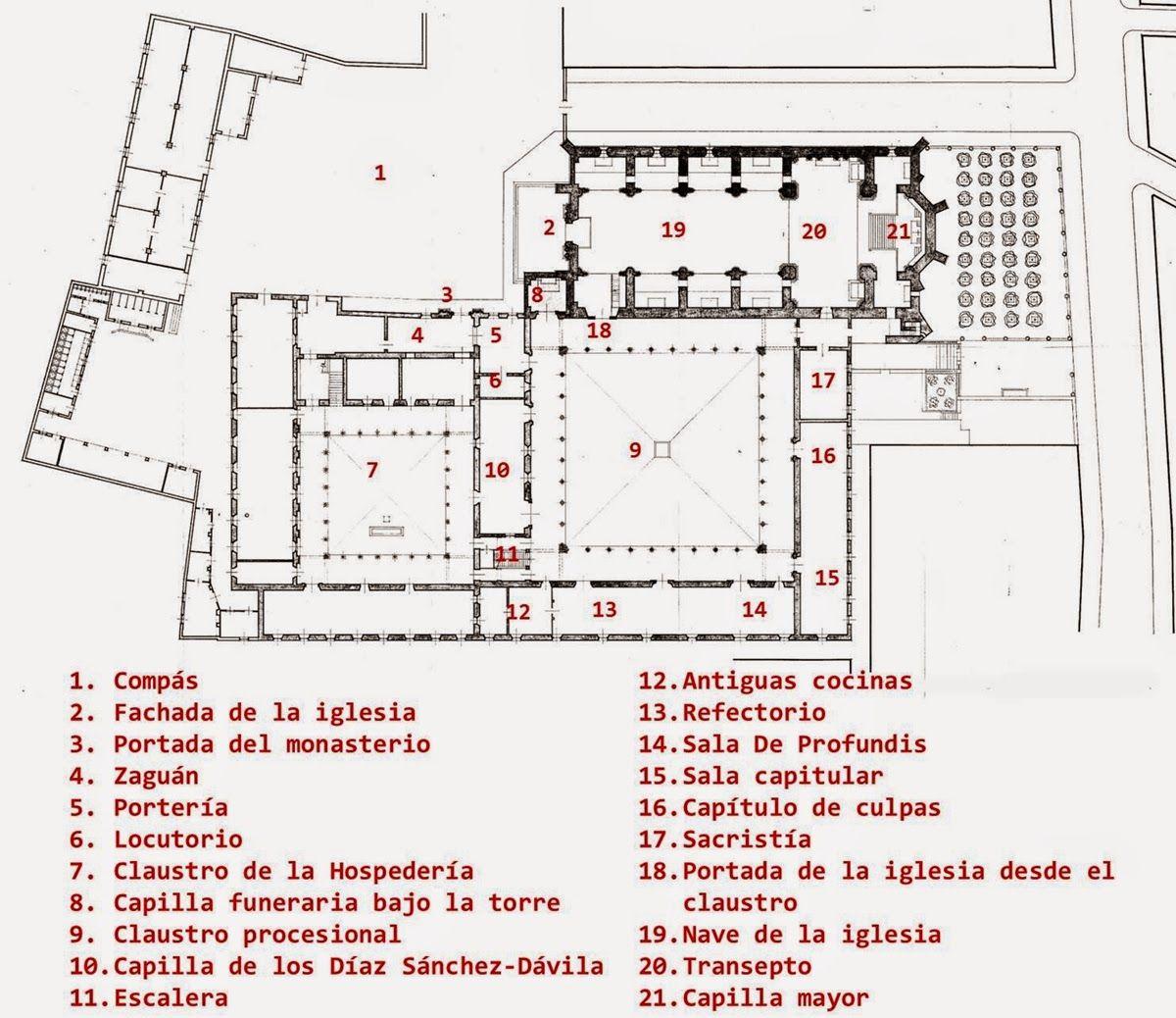 Plano de espacios un monasterio buscar con google for Planos google