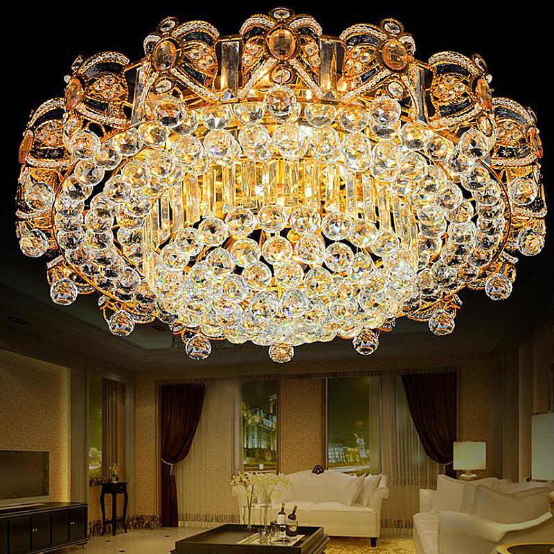 European Led Flush Mount Crystal Ceiling Light Bedroom Living Room Ceiling Lights Led Flush Mount Crystal Ceiling Light